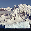 Icebergs Northern Tip Of The Antarctic by Gerry Ellis