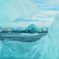 Icebergs On The Southern Beach by Robert Postma