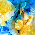 Iced Lemon Drop - Abstract Art By Sharon Cummings by Sharon Cummings