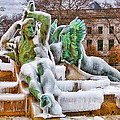 Iced Swann Fountain by Alice Gipson