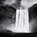 Iceland Black And White Skogafoss Waterfall by Matthias Hauser