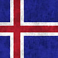 Iceland Flag by World Art Prints And Designs