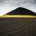 Iceland Minimalist Landscape Brown Black Yellow by Matthias Hauser