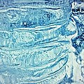 Icicle Abstract Triptych 2 Blue by Marie Spence