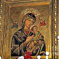 Icon In Marbella Church by Brenda Kean