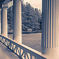 Iconic Columns On An Estate by Edward Fielding