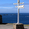 Iconic Lands End England by Terri Waters
