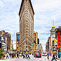 Iconic New York City Flatiron Building by Mark E Tisdale
