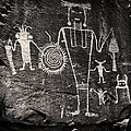 Iconic Petroglyphs From The Freemont Culture by Melany Sarafis