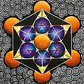 Icosahedron In A Metatron's Cube by Maya B