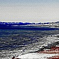 Icy Cold Seascape Digital Painting by Barbara Griffin