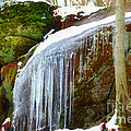 Icy Waterfall  by Peggy Franz