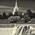 Idaho Falls Temple Black And White by Greg Norrell