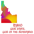 Idaho State Map Collection 2 by Andee Design