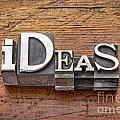 Ideas Word In Metal Type by Marek Uliasz