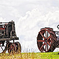 Idle Fordson Tractor On The Hill by Timothy Flanigan