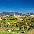 Idyllic Green Nature Of Croatian Village Of Glogovnica by Brch Photography