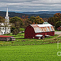 Idyllic Vermont Small Town by Edward Fielding