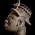 Ife Bronze Royal Head Portrait by PhotoClique