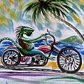 Iguana Rider by David Francke