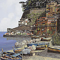 il porto di Sorrento by Guido Borelli