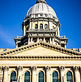 Illinois State Capitol In Springfield by Paul Velgos