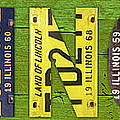 Illinois State Name License Plate Art by Design Turnpike