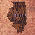 Illinois State Word Art On Canvas by Design Turnpike