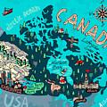 Illustrated Map Of Canada. Travel by Daria i