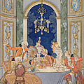 Illustration From 'les Liaisons Dangereuses'  by Georges Barbier