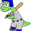 Illustration Of A Brontosaurus Baseball by Stocktrek Images