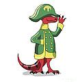 Illustration Of A Tyrannosaur Rex by Stocktrek Images