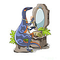 Illustration Of An Iguanodon Putting by Stocktrek Images
