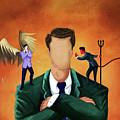 Illustration Of Businessman Getting Advice by Fanatic Studio / Science Photo Library