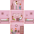 Illustration Of Hospital Interior by Fanatic Studio / Science Photo Library