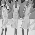 Illustration Of Three Women by Harriet Meserole