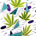 Illustrations Of The Cannabis Leaf by Stock Pot Images