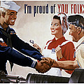 I'm Proud Of You Folks Too - Ww2 by War Is Hell Store