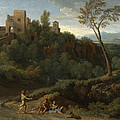 Imaginary Landscape With Buildings In Tivoli by Gaspard Dughet