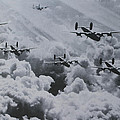 Imagine The Brave Men In These Bombers On A World War II Mission by Tom Janca