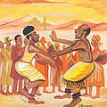Imbiyino Dance From Rwanda by Emmanuel Baliyanga