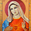 Immaculate Heart Of Mary by Oksana Nabok