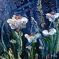 Impasto Daisies by Donna Tuten