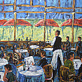 Impresionnist Cafe By Prankearts by Richard T Pranke