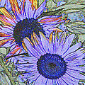 Impressionism Sunflowers by Christiane Schulze Art And Photography