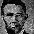 Impressionist Interpretation Of Lincoln Becoming Obama by Doc Braham