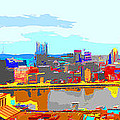 Impressionist Pittsburgh Across The River 2 by C H Apperson