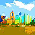 Impressionist Pittsburgh From The North Side by C H Apperson