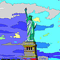 Impressionist Statue Of Liberty by C H Apperson