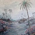 Impressionistic Palms by Rhonda Lee